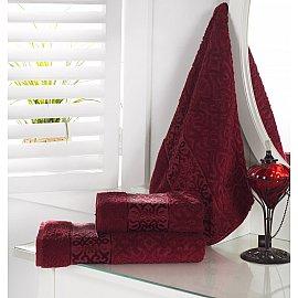"""Полотенце махровое """"KARNA SAHRA"""", бордовый, 50*90 см"""