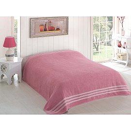 """Простынь махровая """"KARNA PETEK"""", грязно-розовый, 160*220 см"""