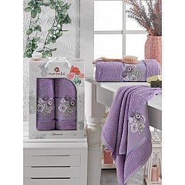 Комплект махровых полотенец MERZUKA ANEMONE (50*80; 70*130), лиловый