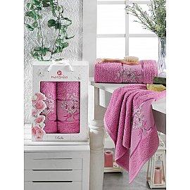Комплект махровых полотенец MERZUKA BELLA (50*80; 70*130), светло-лиловый