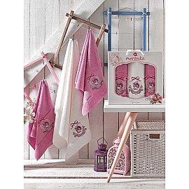 Комплект махровых полотенец MERZUKA ROSE (50*80*2; 70*130), светло-лиловый
