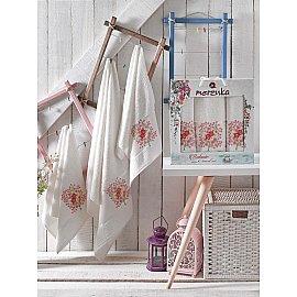 Комплект махровых полотенец MERZUKA BOTANIC (50*80*2; 70*130), кремовый