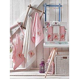 Комплект махровых полотенец MERZUKA BOTANIC (50*80*2; 70*130), светло-розовый
