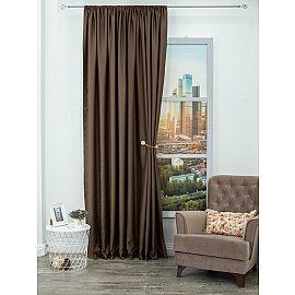 Шторы блэкаут однотонный Amore Mio PR 6668-04, коричневый, 200*270 см