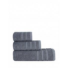 """Полотенце махровое """"KARNA KOLMAR"""", темно-серый, 70*140 см"""
