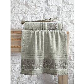 """Полотенце махровое с жаккардом """"KARNA MERVAN"""", зеленый, 50*90 см"""
