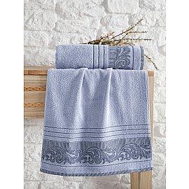 """Полотенце махровое с жаккардом """"KARNA MERVAN"""", голубой, 50*90 см"""
