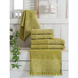 Комплект махровых полотенец Vevien Zara, зеленый, 70*140 см - 3 шт