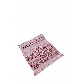 """Полотенце махровое жаккард """"KARNA DURU"""", грязно-розовый, 70*140 см"""