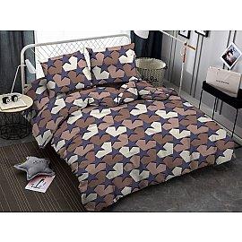 КПБ мако-сатин Star, фиолетовый, коричневый (1.5 спальный)