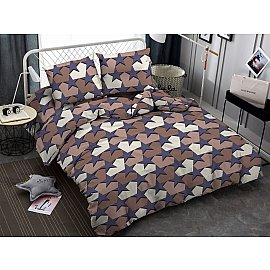 КПБ мако-сатин Star, фиолетовый, коричневый (2 спальный)