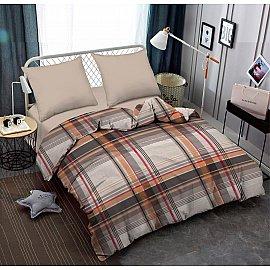 КПБ поплин combo Quickstep с простыней на резинке (2 спальный)
