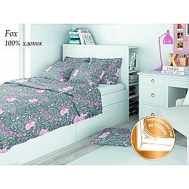 КПБ поплин детский eco cotton combo с трикотажной простыней Fox (1.5 спальный)