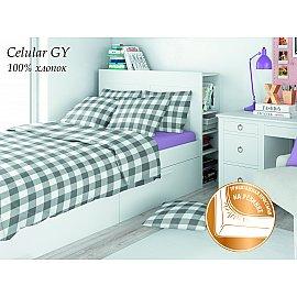 КПБ поплин детский Eco cotton combo Celular с трикотажной простыней (1.5 спальный)