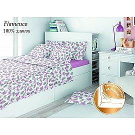 КПБ поплин детский Eco cotton combo Flamenco с трикотажной простыней (1.5 спальный)