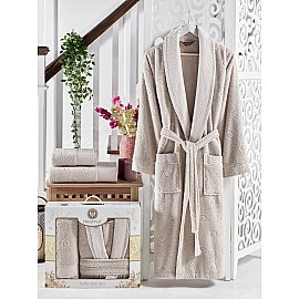 Набор из мужского халата и полотенец Philippus Lenny, капучино