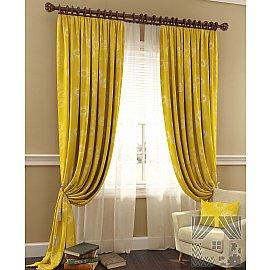 Комплект штор Велор (желтый), 280 см