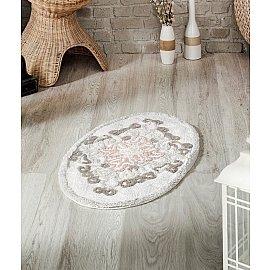 """Коврик для ванной овальный """"MODALIN VERA"""", светло-бежевый, 50*80 см"""