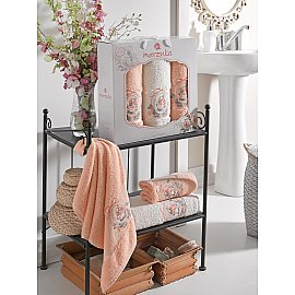 Комплект махровых полотенец MERZUKA ROSE (50*80*2; 70*130), оранжевый