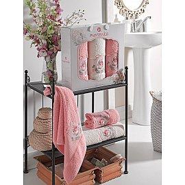 Комплект махровых полотенец MERZUKA ROSE (50*80*2; 70*130), персиковый