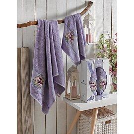 Комплект махровых полотенец MERZUKA VIOLET (50*80; 70*130), лиловый