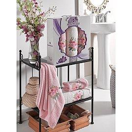 Комплект махровых полотенец MERZUKA VIOLET (50*80*2; 70*130), светло-розовый