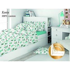 КПБ поплин детский Eco cotton combo Koala с трикотажной простыней (1.5 спальный)