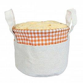 Набор полотенец в корзине Arya Ecose Beige, желтый, 30*30 см - 6 шт