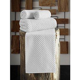 """Полотенце махровое с жаккардом """"KARNA DAMA"""", белый, 90*180 см"""