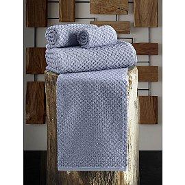 """Полотенце махровое с жаккардом """"KARNA DAMA"""", голубой, 90*180 см"""