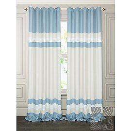 Комплект штор Маноя (бежево-голубой), 280 см