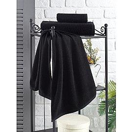 """Полотенце махровое """"KARNA EFOR"""", черный, 70*140 см"""