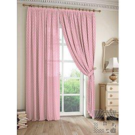 """Комплект штор """"Дрош"""" (розовый), 260 см"""