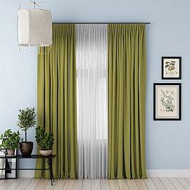 """Комплект штор с подхватами """"Блэкаут"""", зеленый, 240*270 см"""