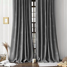 "Комплект штор ""Лука"", серый, 145*270 см"