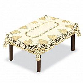 Скатерть №205140-140, кремовая, золотая