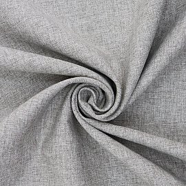 Шторы лен однотонный Amore Mio RR 2014-27, серый, 200*270 см