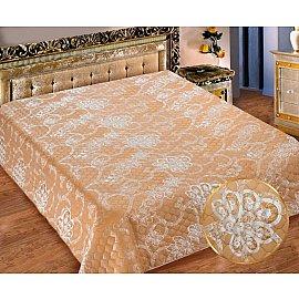 Покрывало I.M.A. Жаккард-атлас №210, персиковый, белый, 200*220 см