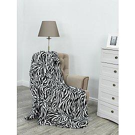 "Плед фланель Absolute ""Шкура зебры"", черный, белый, 180*210 см"