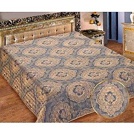 Покрывало I.M.A. Жаккард-атлас №216, золотой, синий, 180*220 см