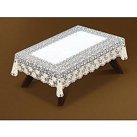 Скатерть №221070-120, белая, золотая