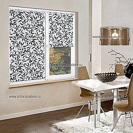 "Рулонная штора ""Сантайм-рисунок Олива Черная"", ширина 95 см"