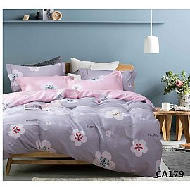 КПБ Сатин печатный дизайн 179 (1.5 спальный)