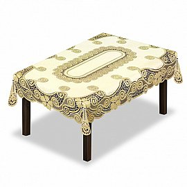 Скатерть №230339-120, кремовый, золотой