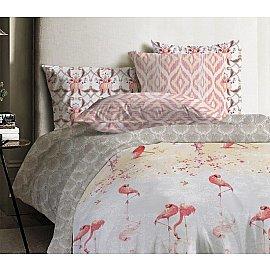 КПБ ранфорс Mona Liza Japanese Flamingo Flamingo с наволочками 70*70 (1.5 спальный)