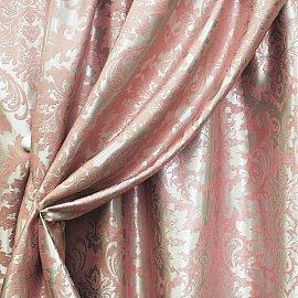 Комплект штор блэкаут жаккардовый RR 150 WZGA-129, розовый