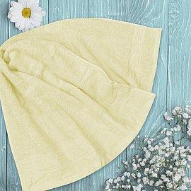 Полотенце однотонное с жаккардом Jardin, желтый, 70*140 см