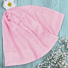 Полотенце однотонное с жаккардом Jardin, розовый, 70*140 см