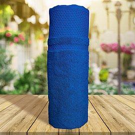 Полотенце однотонное с жаккардом Vafl, синий, 70*140 см