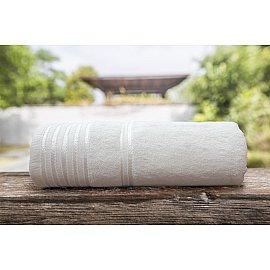 Полотенце однотонное с жаккардом Flesh, молочный, 50*90 см